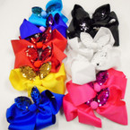 "5"" Gator CLip Bows w/ Change Color Sequin Cat Ear's .54 each"