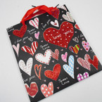 "Best Quality Love/Heart Theme Glitter Gift Bags 8.5"" X 9.5"" Only .56 ea"