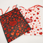 "Best Quality Love/Heart Theme Glitter Gift Bags 7"" X 9"" Only .54 ea"