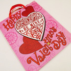 """Best Quality Valentine Theme Glitter Gift Bags 10"""" X 13"""" 9 per pk Only .56 ea"""