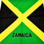 "21"" Square Cotton Bandana Jamaica Flag  .60  ea"