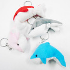 "3"" Mixed Color Dolphin Keychains 12 per pk .50 each"