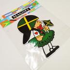 """6"""" Jamaica Little Girl w/ Flag Anywhere Magnet 12 per pk  .33 ea"""