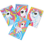 Unicorn Theme Spiral Note Books 12 per pack .12 each