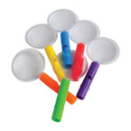 """4"""" Whistle Magnifying Glasses 12 per pack .21 each"""