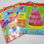 "10"" X 12"" Lg. Size Birthday Theme Gift Bags 12 per pk .50 each"