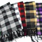 "Special 8.5"" X 60"" Fleece Feel Plaid Pattern Scarf .75 each"