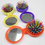 Round Pocket Size Flip Hair Brush w/ Mirror  .50 each