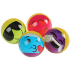 Rainbow Emoji Bounce Balls / 32mm  12 per pk .20 each