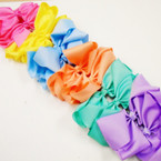 "8"" Jumbo Gator Clip Bow Mixed Pastel Colors  .55 each"