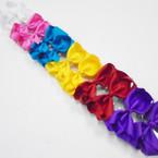"""3.5-4"""" Asst Bright Color Gator Clip Fashion Bow .27 ea"""