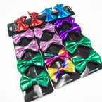 "4 Pack 2.5"" Shiney Metallic Gator Clip Bows .54 per set of 4"