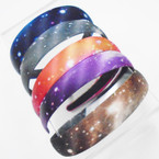 "1"" Wide Galaxy Print Fashion Headbands .50 each"