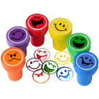 Smiley Face Ink Stampers - 6 pcs per pack .25 each