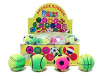 "2.25"" Neon Color High Bounce Rubber Balls Sports Theme 24 per bx .54 each"
