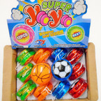 Light Up Sport Theme YoYo's 12 per display bx .56 each