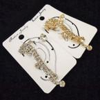 Gold & Silver Rhinestone Ear Cuff Set  .50 ea set
