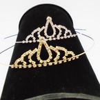 Gold/Silver Rhinestone Tiara Headbands Clear Stones (415) .65 each