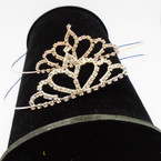 Gold/Silver Rhinestone Tiara Headbands Clear Stones (414) .65 each