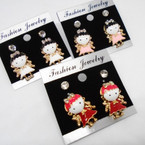 2 Pair Earrings w/ Epoxy Baby Girl in Dress So Cute .50 per set