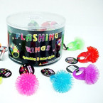Flashing Spikey Ring 24 per display (270) .38 each