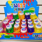 "2"" Colorful Twist Slime 24 pcs per display bx .35 each"