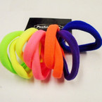 10 Pack Soft & Stretchy Ponytailers Neon  Colors .54 per pack