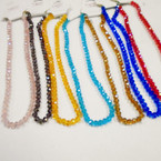"16-18"" 8MM Crystal Bead Necklaces 10 colors .65 each"