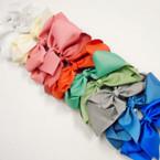 "8"" Jumbo Gator Clip Bow Mixed Spring Colors  .55 each"
