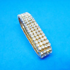 SPECIAL 4 Strand Gold Rhinestone Stretch Tennis Bracelet .65 each