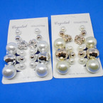 6 Pair Value Pack Earrings Gold/Sil .50 per set