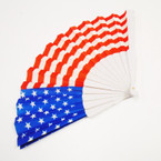 "9"" Patriotic USA Flag Theme Hand Fan .56 each"