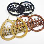 "3"" 3 Color All Lives Matter Wood Earrings 2 Shapes mixed in dz  .52 each"