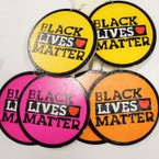 "2.5"" Mixed Color Round Black Lives Matter Wood Earrings  .52 each"