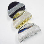 "3.5"" Blk,Silver & Gold Jaw Clips w/ Crystal Stones .54 ea"