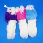 "6"" White Faux Fur Pet Dog Keychains w/ Purse Clip  .54 each"