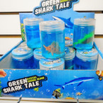 "3"" Tall Blue Shark Tale Crystal Slime   12 per display"