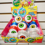 Light Up Action Eye Ball Theme YoYo's 12 per display .56 each