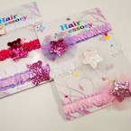 3 Pack Stretch Baby Headbands w/ Sparkle Star & Bear .50 per set