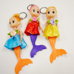 "6"" Mermaid Theme Dress  Up Doll Keychains .54 each"