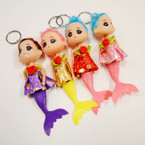 "7"" Mermaid Theme Dress  Up Doll Keychains .54 each"