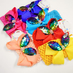 "2.5"" Crochet Headwrap w/ 4"" Bow w/ Sequin Bunny Ears .52 each"
