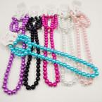 "16-18"" 8MM Glass Pearl Bead Necklace Sets w/ Bracelet  .54 each  set"