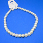 "16"" 12MM Glass Pearl Necklace Sets Cream Color .54 per set"