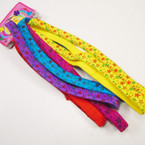 6 Pack Star Print Elastic Headbands Asst Colors .50 per pk