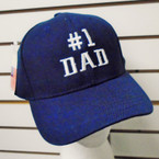 #1 Dad Embroidered Baseball Caps Navy Blue 12 per pk $ 2.75 each