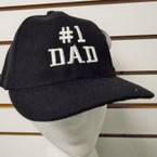 #1 Dad Embroidered Baseball Caps BLACK 12 per pk $ 2.75 each