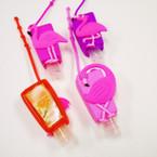 """3"""" Asst Scent Hand Sanitizer Pink Flamingo Theme 12 per pk .56 ea"""