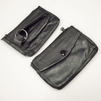 "4"" Leather 2 Zipper Coin Purse w/ Key Holder 12 per pk .54 each"