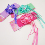 "2"" Stretch Headbands w/ 3.5"" Satin Bow & Long Dangle Ribbons .54 each"